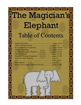 The Magician's Elephant Novel Study Everything You Need