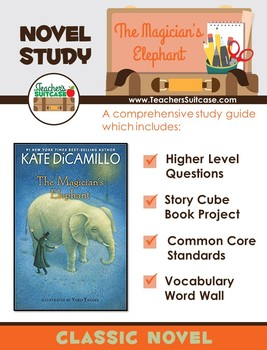 The Magician's Elephant {Novel Study, Story Cube, & Word Wall}
