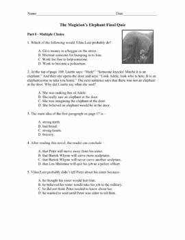 The Magician's Elephant Vocabulary Cards and Vocabulary Tests