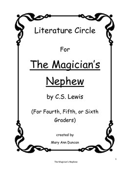 The Magician's Nephew Literature Circle