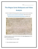 The Magna Carta- Webquest and Video Analysis with Key