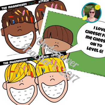 The Magnificent Snack Attack Sight Word Game - Paperless, Digital or Printable