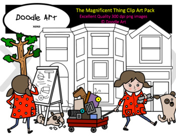 The Magnificent Thing Clipart Pack