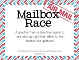 The Mailbox Race {a greater than, less than game}