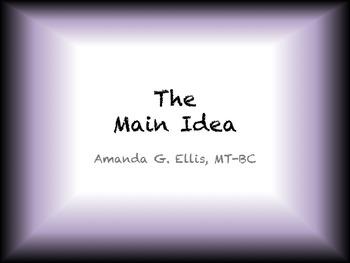 The Main Idea