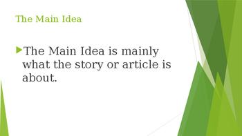 The Main Idea Powerpoint
