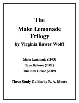 """""""Make Lemonade"""" Trilogy by Virginia Euwer Wolff: A Study Guide"""