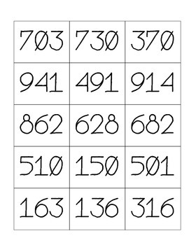 The Make and Read Numbers Game - Place Value