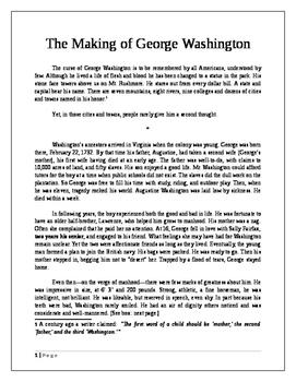 The Making of George Washington