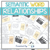 Semantic Relationships: Speech Therapy: Word Relationship Activities