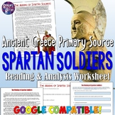 The Making of Spartan Soldiers Reading