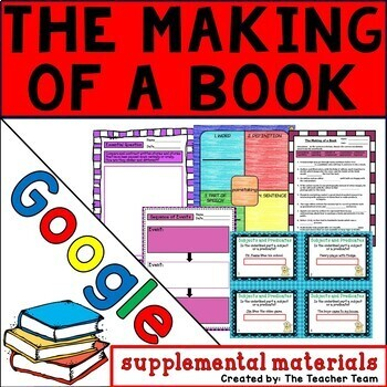 The Making of a Book Journeys 6th Grade Lesson 3 Google Digital Resource
