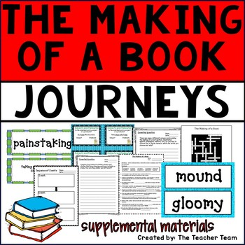 The Making of a Book Journeys 6th Grade Unit 1 Lesson 3 Activities & Printables
