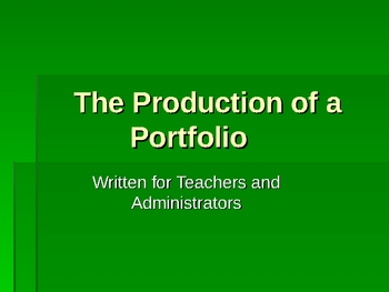 The Making of a Professional Portfolio