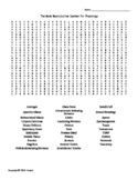 The Male Reproductive System Vocabulary Word Search for Physiology Students