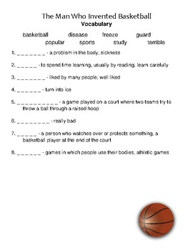 The Man Who Invented Basketball Reading Street Vocabulary