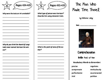 The Man Who Made Time Travel Trifold - Storytown 6th Grade Unit 4 Week 1