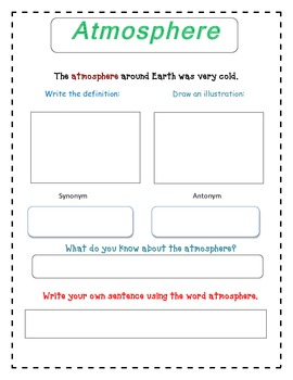 The Man Who Named The Clouds - Selection Vocabulary
