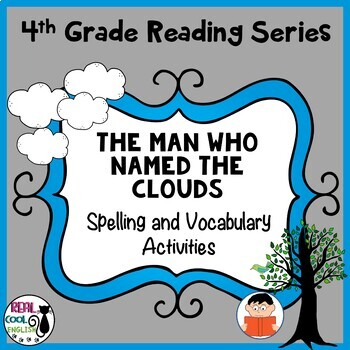 Spelling and Vocabulary Activities: The Man Who Named the Clouds Freebie