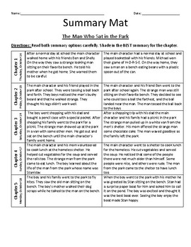 The Man Who Sat in the Park / Summary Mat