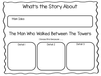 The man who walked between the towers writing activities