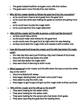 """""""The Man who Couldn't Stop Dancing"""" story questions"""