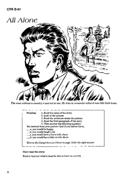 The Man without a Country 10 Chapter Novel, Student Activities, Answer Keys