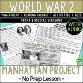 Manhattan Project, World War 2, World War II, WW2, WWII