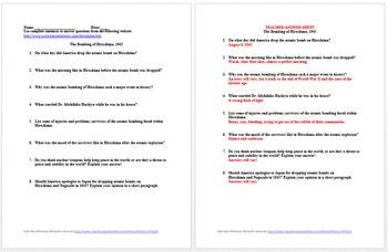 The Atom Bomb Lesson Plan   Clarendon Learning
