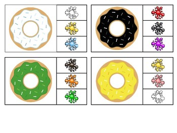 The Many Colored Donuts - an interactive color & number book & clip cards