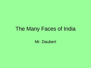 The Many Faces of India PPT intro