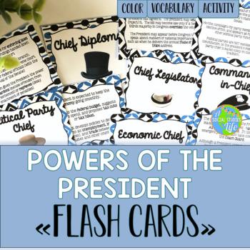 Executive Branch Flash Cards