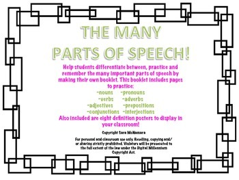 The Many Parts of Speech!