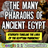 Ancient Egypt and its Many Pharaohs!  An Egyptian Time-Lining Assignment!