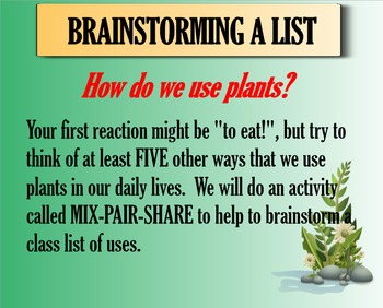The Many Uses of Plants