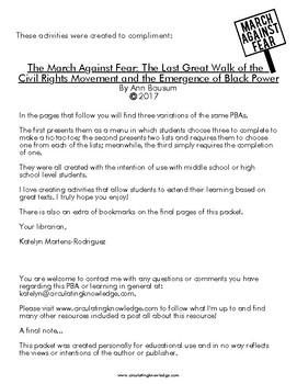 The March Against Fear Menu / PBA