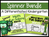 The March Spinner Bundle-Math and Word Work Galore