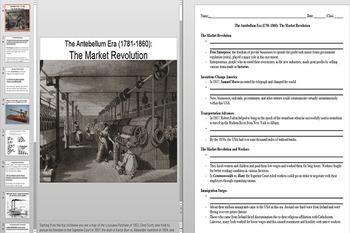 The Market Revolution Factories, Inventions & Free Enterprise Ppoint & Worksheet
