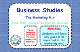 The Marketing Mix - 4 P's - Group Task - Create a New Drin