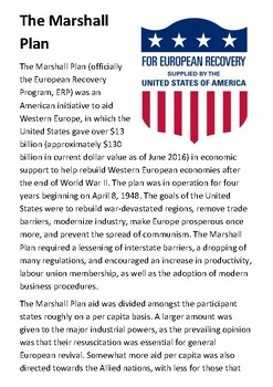 The Marshall Plan Handout