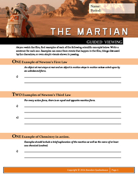 the martian 2015 guided viewing movie by brendon quebedeaux teachers pay teachers. Black Bedroom Furniture Sets. Home Design Ideas
