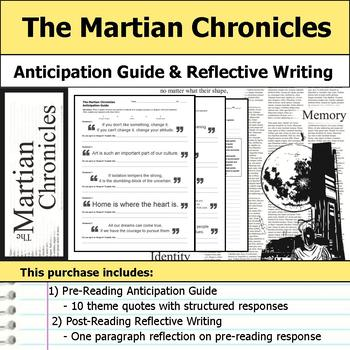 The Martian Chronicles - Anticipation Guide & Reflection