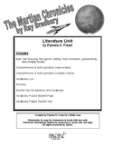 The Martian Chronicles Literature Unit or Book Club Selection