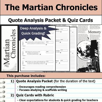 The Martian Chronicles - Quote Analysis & Reading Quizzes