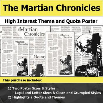 The Martian Chronicles - Visual Theme and Quote Poster for Bulletin Boards