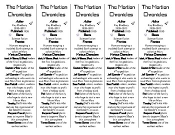 The Martian Chronicles edition of Bookmarks Plus: Fun Freebie and Reading Aid!