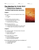 The Martian (Classroom Edition) Chapters 1-5 Reading Compr
