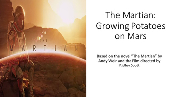 The Martian  Foldable eBook: Growing Potatoes on Mars