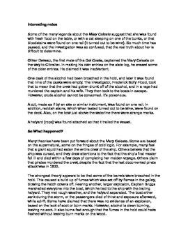 The Mary Celeste Performance Based Assessment