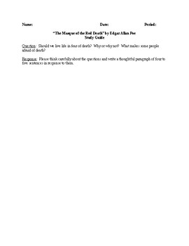 The Masque of the Red Death - Comprehensive Study Guide - CCSS Aligned
